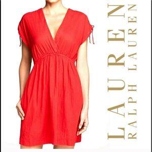 Red V neck dress 💋